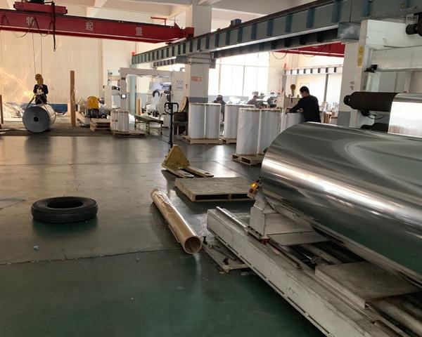苹果反光膜加工工厂展示