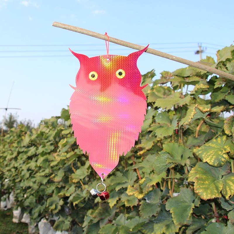 驱鸟猫头鹰反光挂片,驱鸟鹰镭射反光,铃铛驱鸟反光挂片